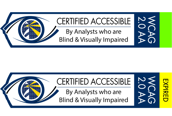 Example of Active and Expired Accessibility Certificates